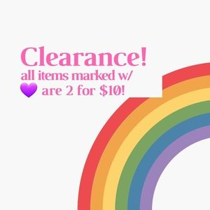 2 for $10! On 💜 clearance items